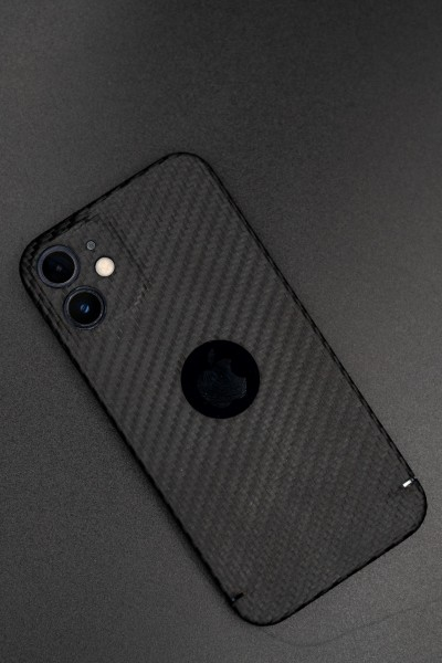 Carbon Cover iPhone 12 Pro Max mit Logowindow