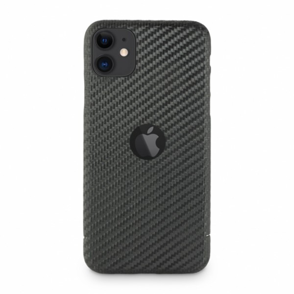 Carbon Cover iPhone 11 mit Logo Window