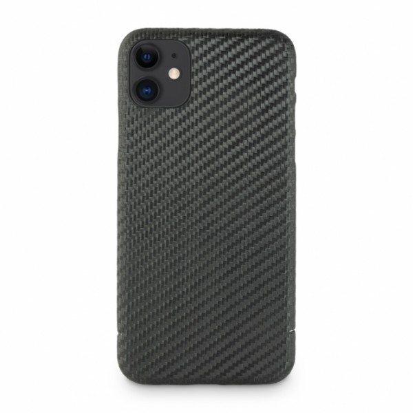 Carbon Cover iPhone 12 Mini mit Logowindow