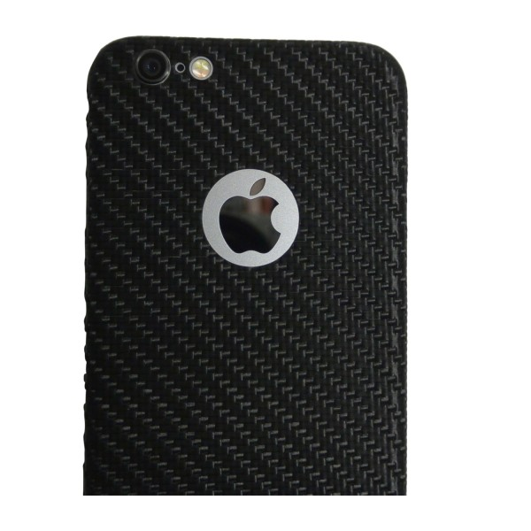 Carbon Cover iPhone 6 Plus mit Logo Window