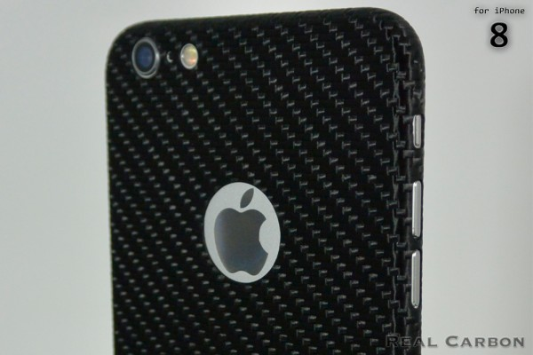 Carbon Cover iPhone 8 mit Logo Window
