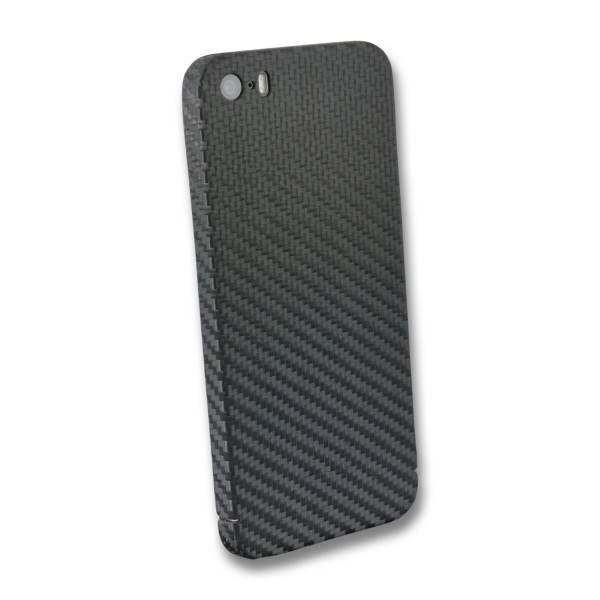 Carbon Cover iPhone SE 2016 mit Logo Window